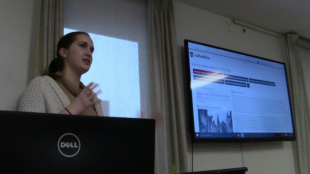 Sandrine Murray delivers a presentation.