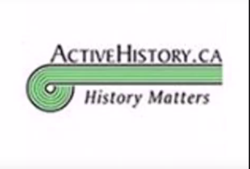 "logo with caption ""history matters"""