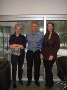 James Orbinski with Dominique Marshall and Christine Chisholm in the offices of the Bachelor in Global and International Studies where he was interviewed by the CNHH.