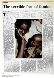 The Terrible Face of Famine - Maclean's, November 18, 1984: 28.