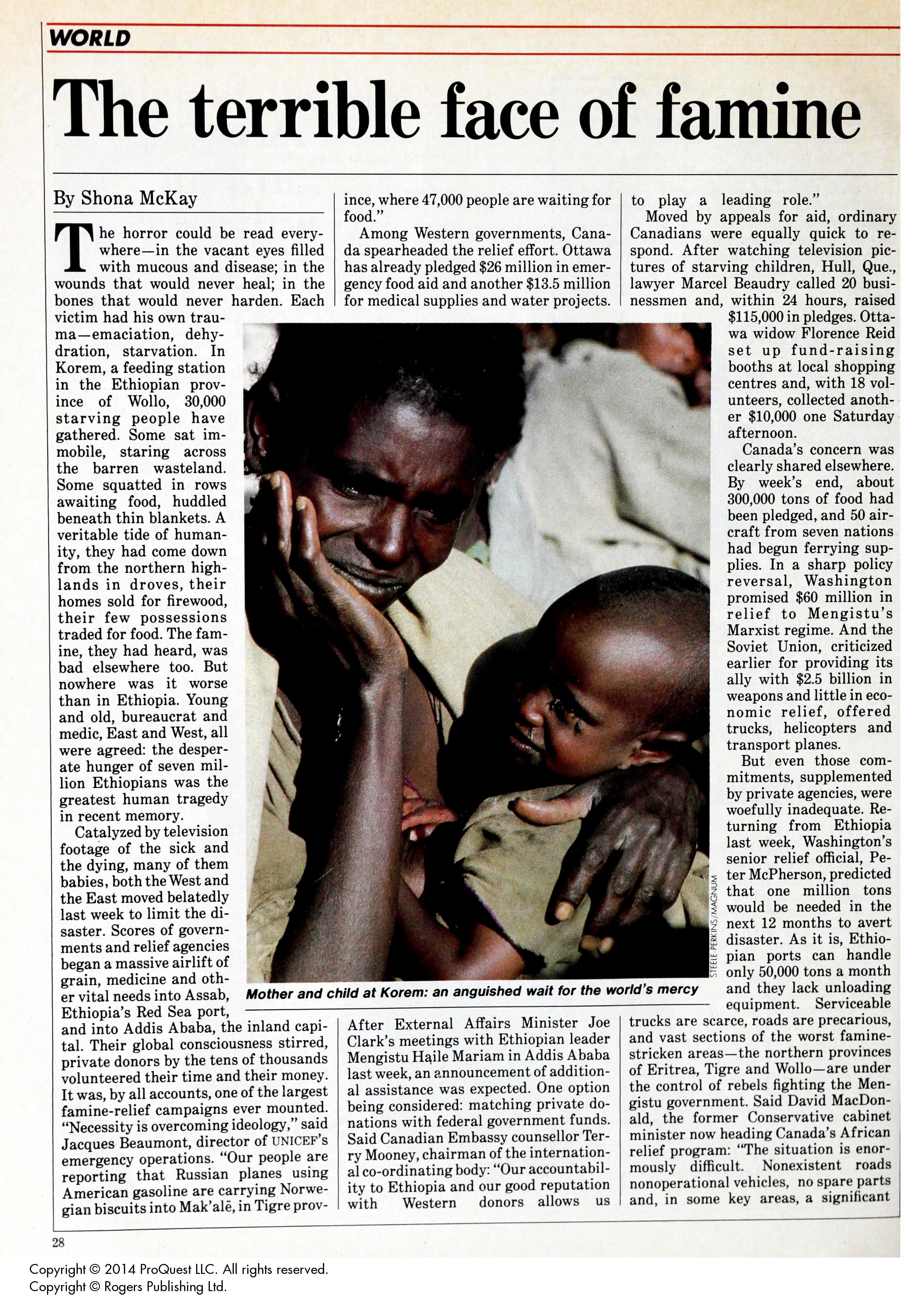 Essay On Famine