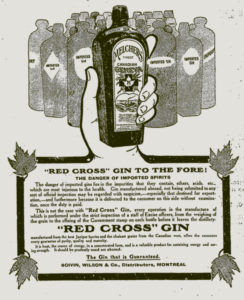 Emblem Abuse: Red Cross Gin, 1900-1910.